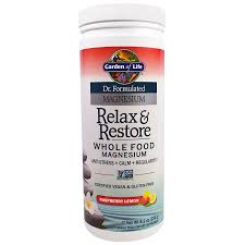 garden of life dr formulated magnesium relax re raspberry lemon 8 1 oz 230 g discontinued item