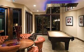 contemporary style billiards room