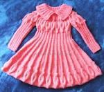 Вязано платье лотос