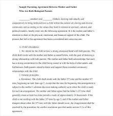 Custody Agreement Sample Example Of Child Custody Agreement Example Of Child Custody