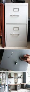 diy furniture makeover. DIY Industrial Desk Made From Metal File Cabinets And Butcher Block Top Diy Furniture Makeover