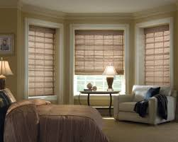 Living Room Bay Window Living Room Bay Windows Decorated With Grey Blinds Fantastic And