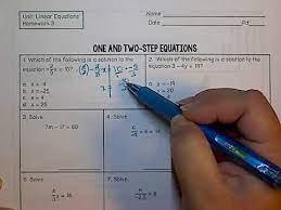 linear equation homework 3 you