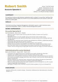 Accounting Specialist Resume Extraordinary Accounts Specialist Resume Samples QwikResume