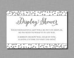 Display Shower Bridal Shower Mia BR76 Printable InstantDisplay Baby Shower Wording