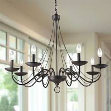 8 light rustic wrought iron chandeliers orb candle chandelier lights