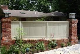Small Picture Brick Fence cedar wood Design Ideas Pinterest Brick fence