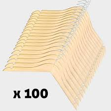 pack de 100 cintres bois 46cm