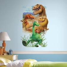 h the good dinosaur gang peel and on dinosaur bedroom wall stickers with roommates 2 5 in w x 27 in h the good dinosaur gang peel and stick