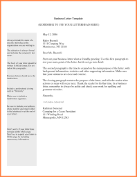 Email Business Letter The Letter Sample