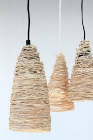 make a raffia pendant light for under 10 dossier blog