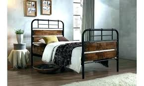 Rustic Metal Bed Frames L Frame And Wood Platform Oxford Industrial ...