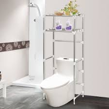 23 Tiers Shelf Toilet Bathroom Space Saver Organizer Metal Towel
