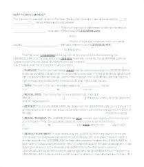 Purchase Agreement Contract Interesting Rent To Own Agreement Template Rent To Own Contract Template Image
