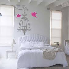 image is loading bird cage and birds vintage design shabby chic  on shabby chic wall art bedroom with bird cage and birds vintage design shabby chic wall art sticker