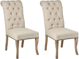 hill interiors roll top dining chair with ring pull pair