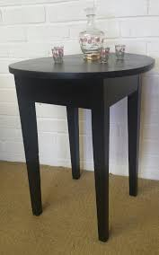 vintage wooden round pub table black lamp table wine table side table