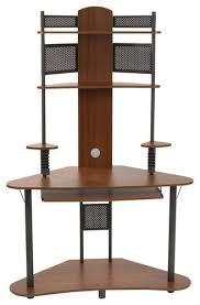 tower computer desk. Calico Designs - Arch Tower Computer Desk Pewter/Teak Larger Front