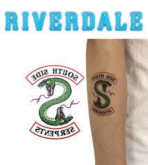 временное тату южные змеи ривердэйл Riverdale Sounthside Serpents