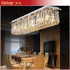 modern restaurant lighting. Modern Crystal Chandelier Restaurant Lights Rectangular LED Light Living Room Ceiling Lighting Fixtures Bar