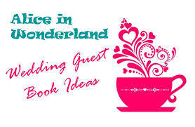alice wonderland wedding guest book ideas