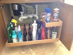 ping bag storage solution plastic organizer sink kitchen ideas under