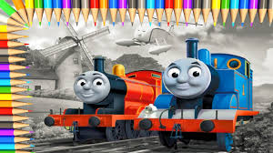 Thomas And Friends Coloring Page L Coloring Book Learn Colors With