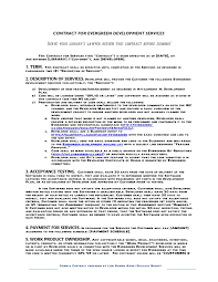 simple contract for services template sample contract for contracting with a developer evergreen