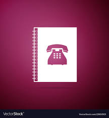 Address Telephone Book Phone Book Icon On Purple Background Address Book