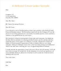 Sample Referral Cover Letter Data Analyst Cover Letter Example Template For Job Opening