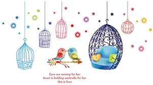 The world's most unique art forms are represented in a fabulous array of materials. Amazon Com Winhappyhome Love Bird Cage Wall Art Stickers For Bedroom Living Room Coffee Shop Removable Decor Decals Home Kitchen