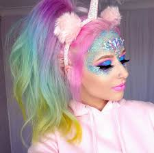 colorful unicor makeup ideas