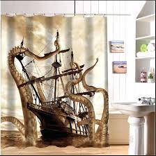 steampunk shower curtain custom fashion popular corsair octopus shower curtain x inches shower curtains bathroom steampunk