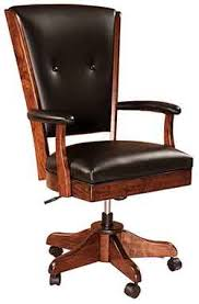 custom made office chairs. Our Beautiful And Popular Amish Made Berkshire Executive Desk Chair Shown  With The Kevco Base. Pictured Custom Made Out Of Solid 1/4 Sawn White Oak Office Chairs A