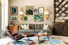 cozy mid century modern living room