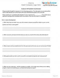Free Examples Of Employee Evaluations Evaluation Employee