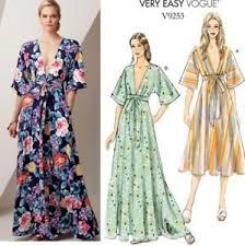 Vogue Pattern Impressive Vogue Pattern Lounging Dress Kimono Style Tie Front 48 Legnths Miss