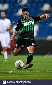 Reggio Emilia, Italy. 18 August, 2019: Giacomo Raspadori of US Sassuolo  during the Coppa Italia football match between US Sassuolo and Spezia  Calcio. US Sassuolo won 1-0 over Spezia Calcio. Credit: Nicolò