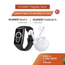 Bộ Sản Phẩm Huawei (Vòng Đeo Tay Thông Minh HUAWEI Band 6 + Tai Nghe Không  Dây HUAWEI Freebuds 4i) | Hàng Chính Hãng - Vòng đeo thông minh - Vòng theo