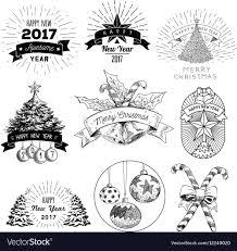 Abstract Christmas Logos Set
