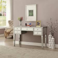 mirrored office furniture. home office writing desk glam mirrored accents furniture