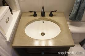 diy concrete countertop naptime diy alluring diy bathroom vanity top