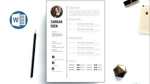 modern clean resume template clean resume template free