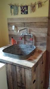 Bathroom Utility Sink Inspiration Utility Sink I Built From Pallet Wood And An Old Wash Tub Pole