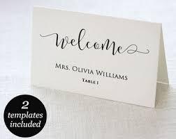 wedding place cards etsy Printable Wedding Place Card Template wedding place cards, wedding place card printable, place card template, wedding printable, printable wedding place cards templates