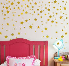 gold stars pattern vinyl wall art decals nursery room decoration wall stickers for kids rooms home on wall art decal nursery with gold stars pattern vinyl wall art decals nursery room decoration