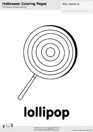Lollipop Coloring Page Super Simple