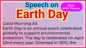 Speech on Earth Day 2021 | Earth Day 2021 Theme | Essay on Earth Day 2021