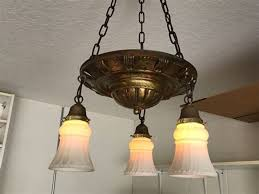 old chandelier glass shades