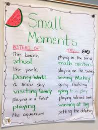 Small Moment Watermelon Anchor Chart Narrative Writing Lessons Tes Teach